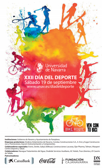 Cartel del día del deporte 2015