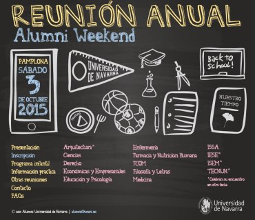 Cartel grande de Alumni Weekend ISSA