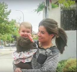 Marta Páramo con su hija Cada Vida Importa para +Vida