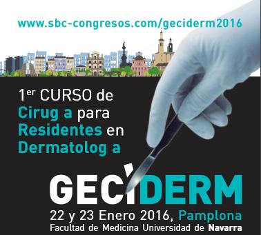 Cartel I Curso de Dermatología para residentes en la Facultad de Medicina