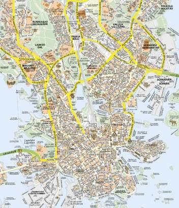 Mapa detallado Helsinki